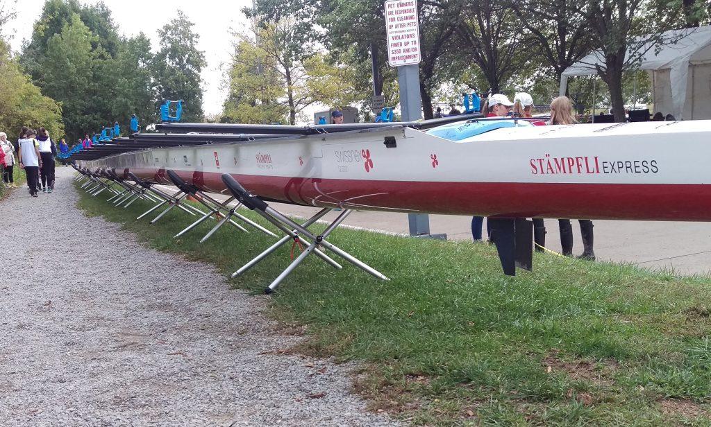 Stampfli roeiboot op dinxx singels